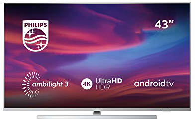 Philips Ambilight 43PUS7304/12 TV 108 cm (43 inch) Smart TV (4K, LED TV, HDR 10+, Android TV, Google Assistant, Alexa compatibel, Dolby Atmos) lichtzilver